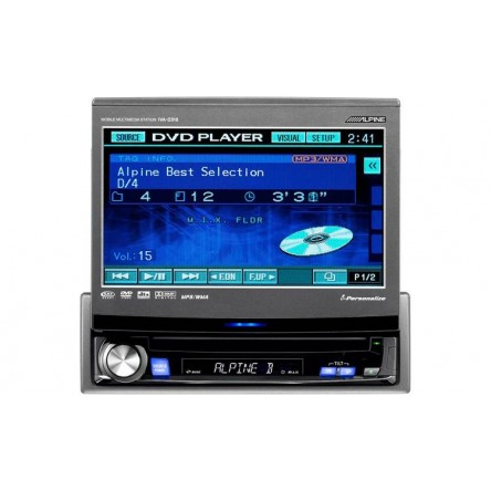 """Alpine DVD / CD receiver with 7"""" LCD monitor"""