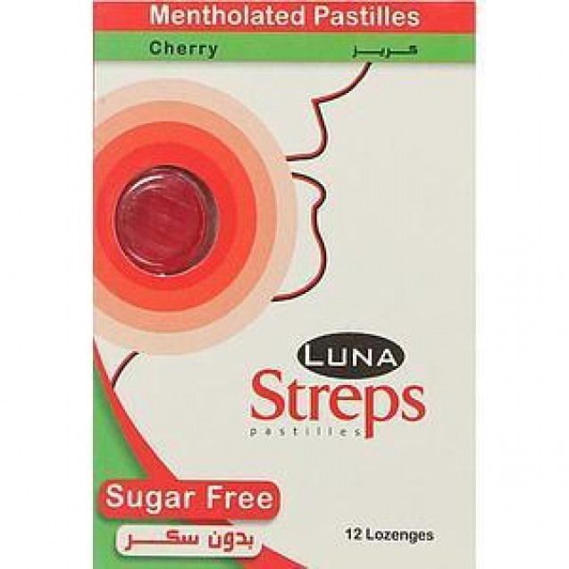 Luna Pastelia Strips Cherry without sugar (a box of 12 strips and a strip of 12 pcs)