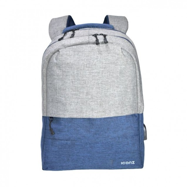 Iconz New York Backpack 15.6 Blue Grey