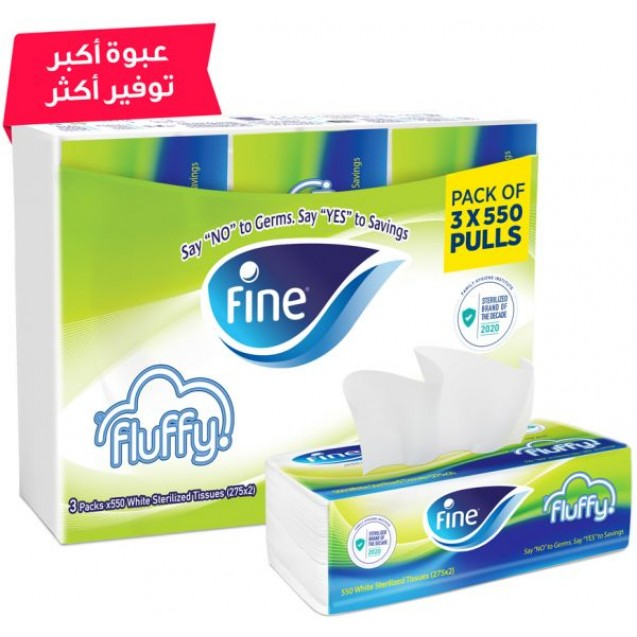 Fine Fluffy Tissues Withdrawn 550 Sheets 2 Ply Sterilized Tissue